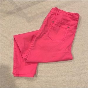VINCE CAMUTO/TWO Sz32 Hot Pink Straight Leg Jeans